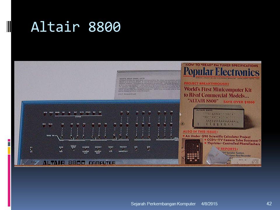 Altair 8800 4/8/2015Sejarah Perkembangan Komputer 42