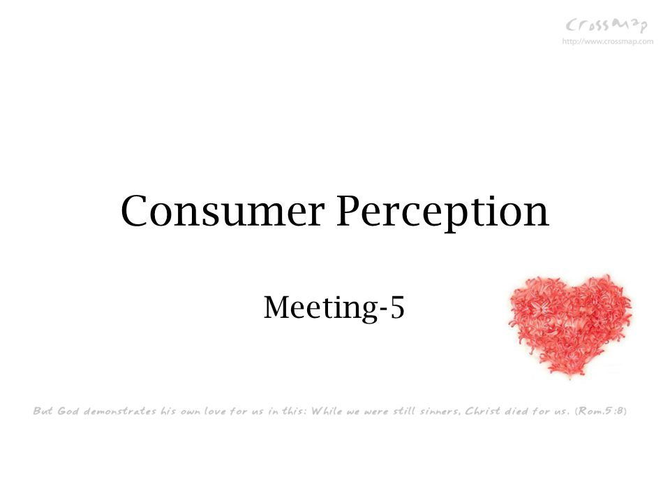 Consumer Perception Meeting-5