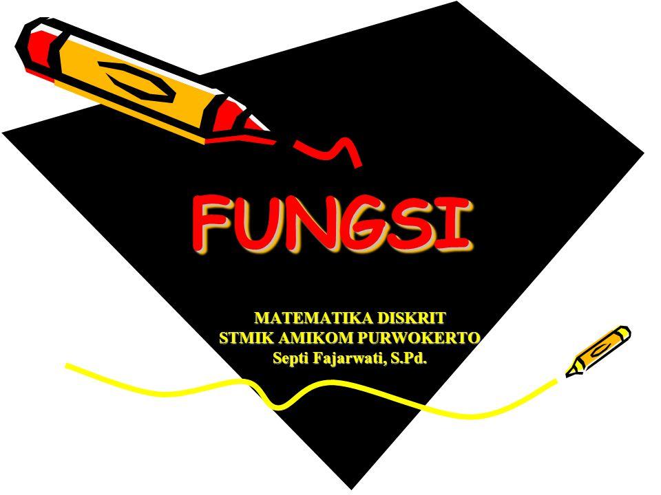 FUNGSIFUNGSI MATEMATIKA DISKRIT STMIK AMIKOM PURWOKERTO Septi Fajarwati, S.Pd.
