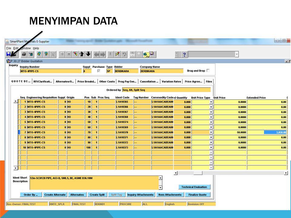 MENYIMPAN DATA