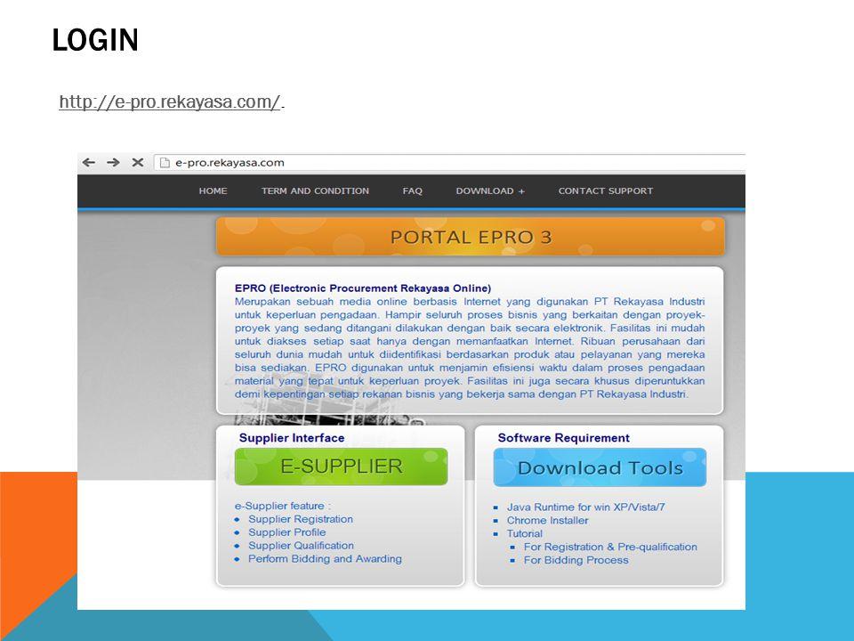 LOGIN http://e-pro.rekayasa.com/http://e-pro.rekayasa.com/.