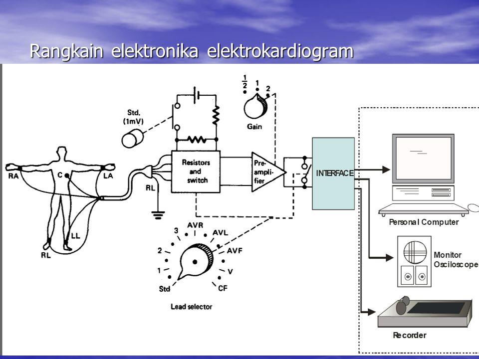 Rangkain elektronika elektrokardiogram