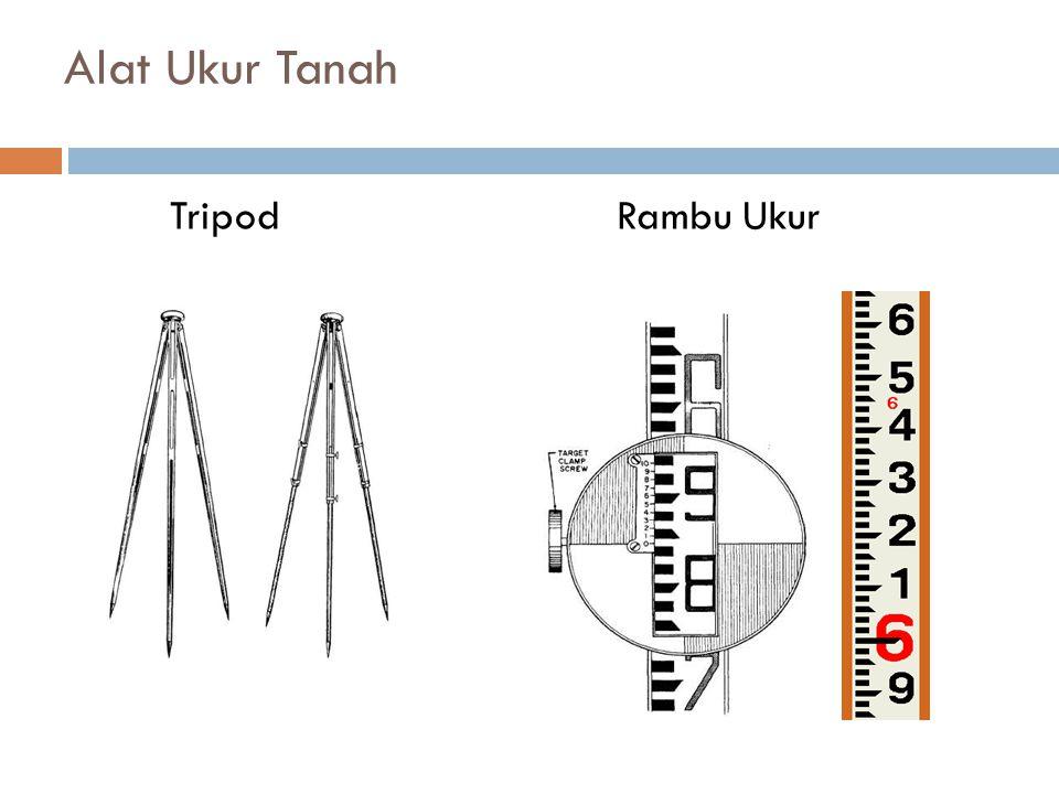 Alat Ukur Tanah Tripod Rambu Ukur
