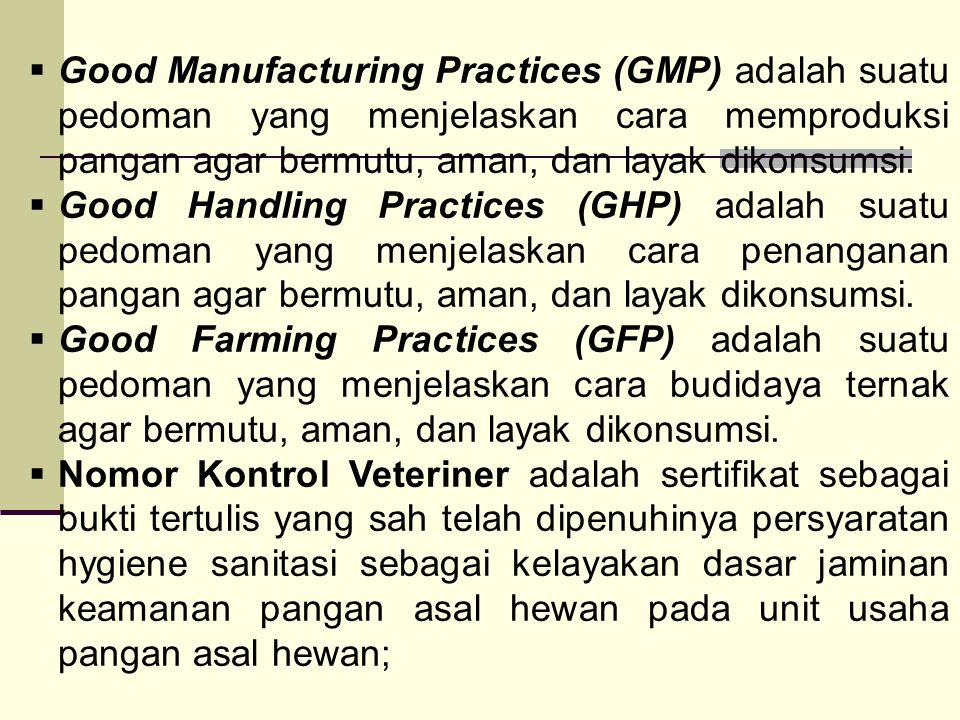  Good Manufacturing Practices (GMP) adalah suatu pedoman yang menjelaskan cara memproduksi pangan agar bermutu, aman, dan layak dikonsumsi.  Good Ha