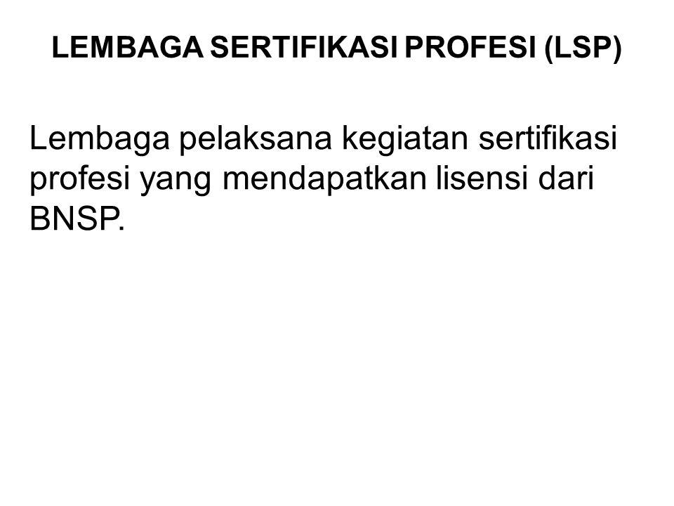 SERTIFIKASI KOMPETENSI KERJA Sertifikasi Kompetensi Kerja adalah proses pemberian sertifikat yang dilakukan secara sistematis dan objektif melalui asessmen kerja nasional Indonesia dan/atau internasional.