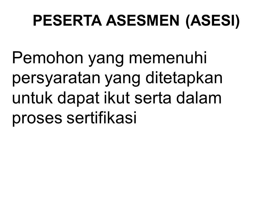 ASESOR LISENSI Seseorang yang mempunyai kualifikasi yang relevan dan kompeten untuk melaksanakan dan/atau asesmen sistem manajemen mutu.