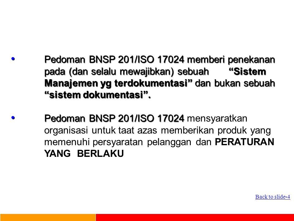PANDUAN MUTU LSP Berdasarkan Pedoman BNSP 201 Rev 1. 2006 Penyusunan