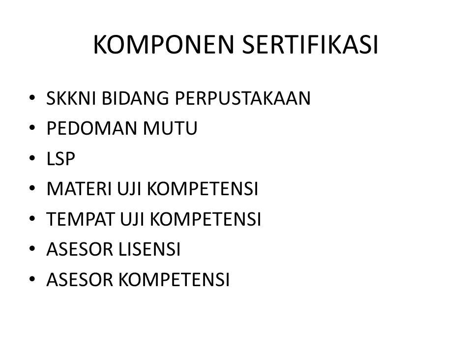PENGEMBANGAN SKEMA SERTIFIKASI PENGEMBANGAN SKEMA SERTIFIKASI SISTEM SERTIFIKASI KOMPETENSI KERJA INDONESIA PENERAPAN SKEMA SERTIFIKASI Lisensi LSP Registrasi P.