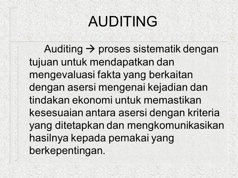 AUDITS  Phases [Figure 1-3] 1.Planning 2. Collecting evidence 3.