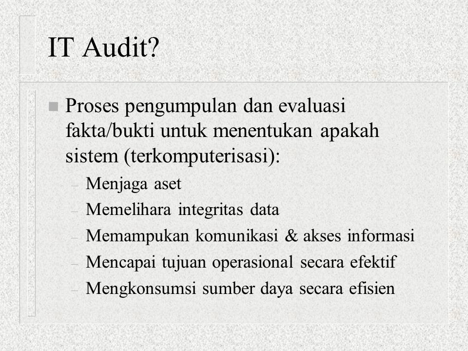 IT Audit.
