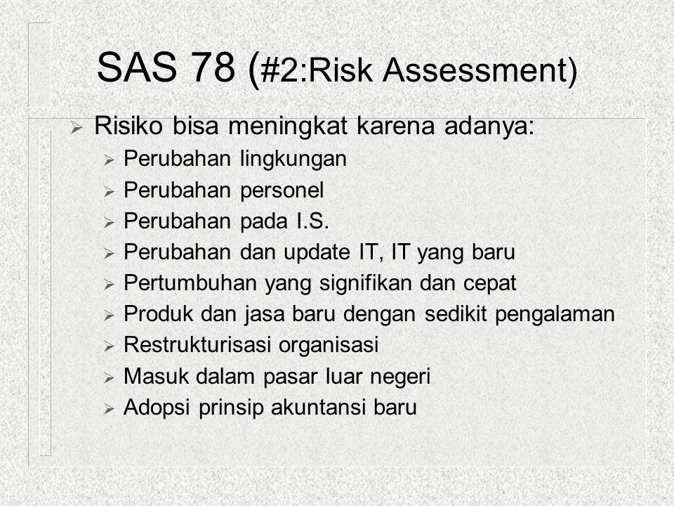  Risiko bisa meningkat karena adanya:  Perubahan lingkungan  Perubahan personel  Perubahan pada I.S.  Perubahan dan update IT, IT yang baru  Per
