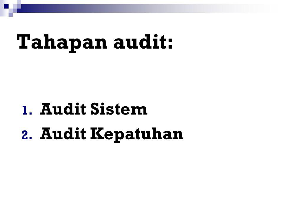 Frekuensi Audit Sesuai persyaratan peraturan. Terdapat perubahan yang signifikan dalam manajemen, kebijakan, dan teknik. Terdapat perubahan sistem. At