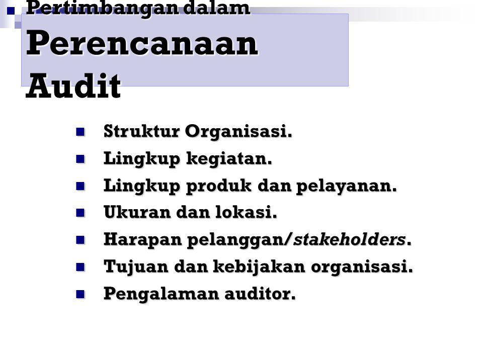 Perencanaan Audit dan Unsur di dalam Audit
