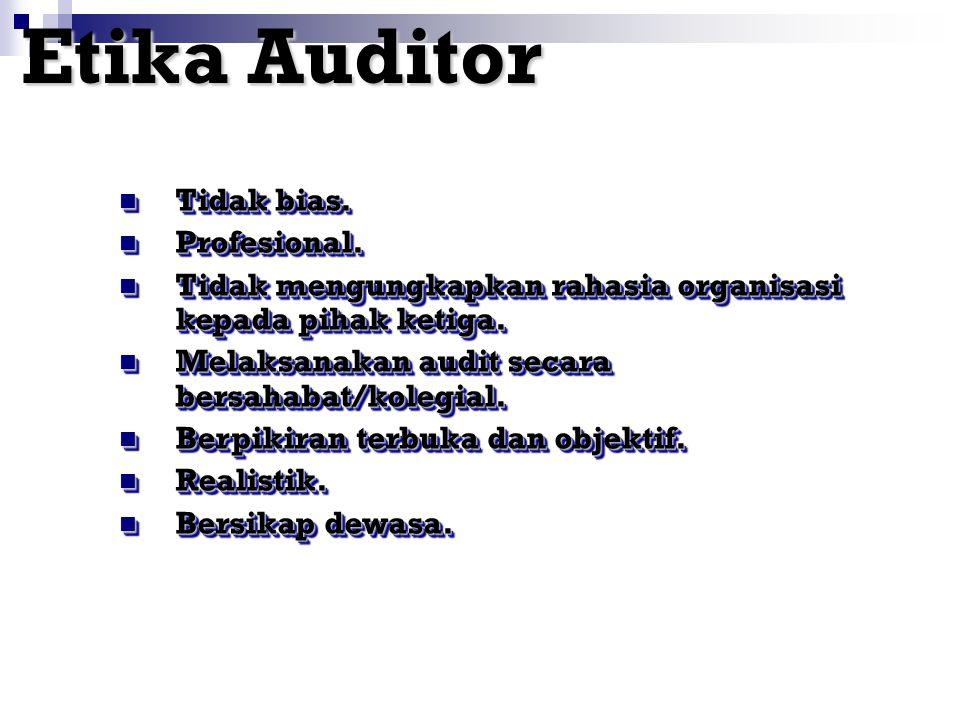 Sikap Auditor Sedikit Sedikit bicara. Banyak Banyak mendengarkan.