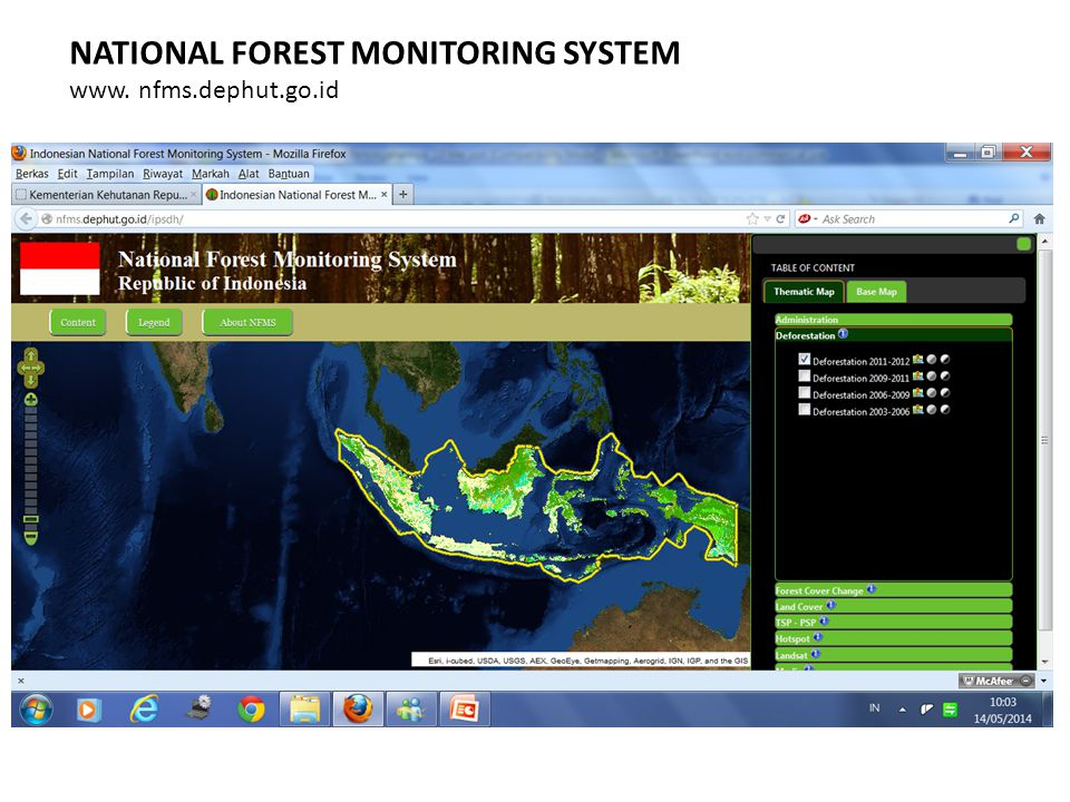 NATIONAL FOREST MONITORING SYSTEM www. nfms.dephut.go.id