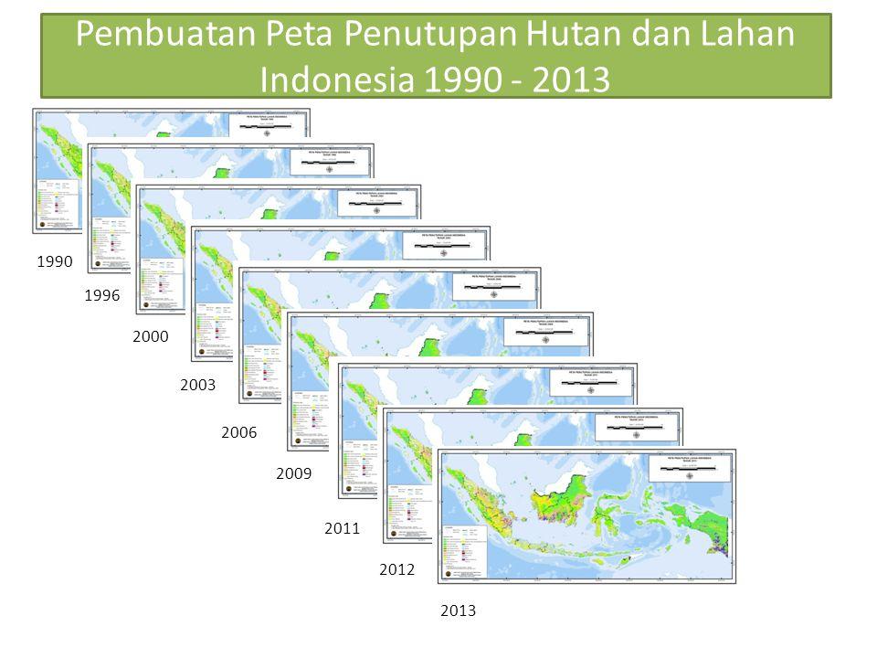 Pembuatan Peta Penutupan Hutan dan Lahan Indonesia 1990 - 2013 1990 1996 2000 2003 2006 2009 2011 2012 2013