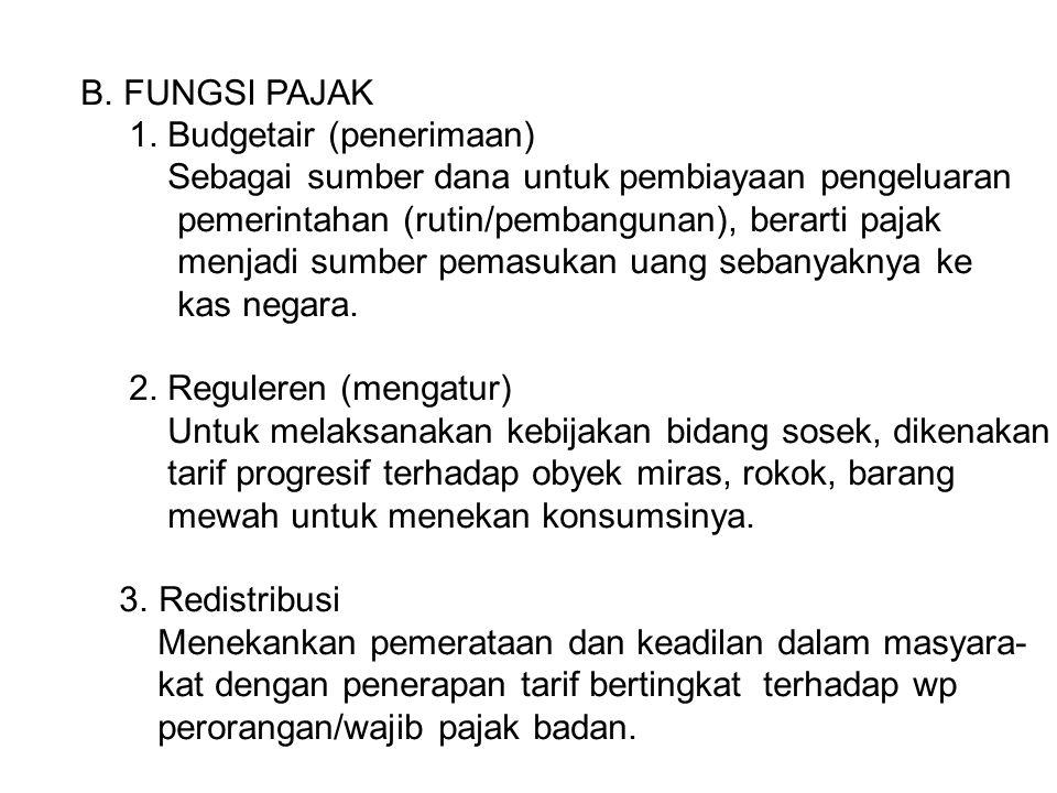 B.FUNGSI PAJAK 1.