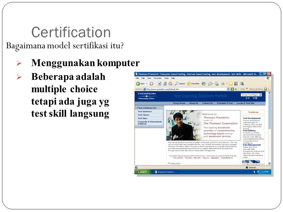 Certification Bagaimana model sertifikasi itu.