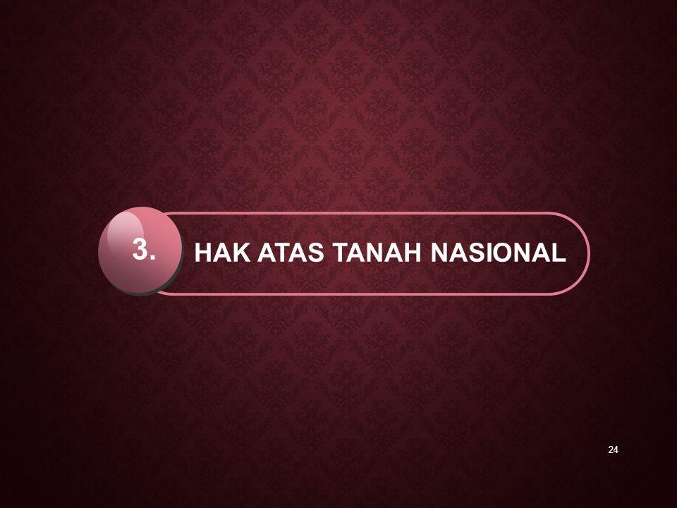 24 HAK ATAS TANAH NASIONAL 3.
