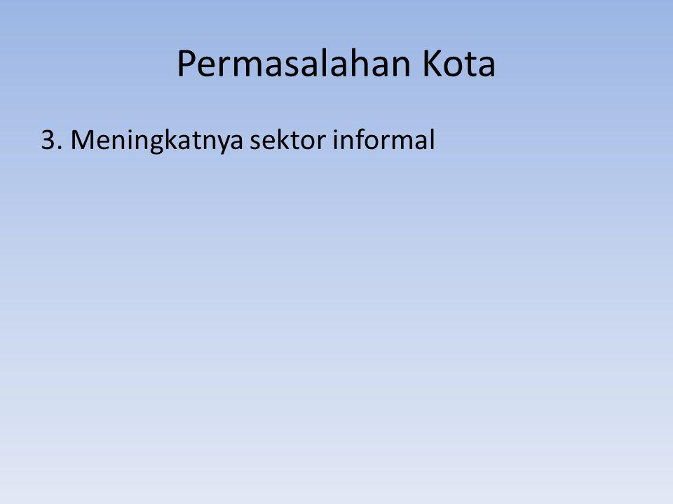 Permasalahan Kota-sektor informal 3.