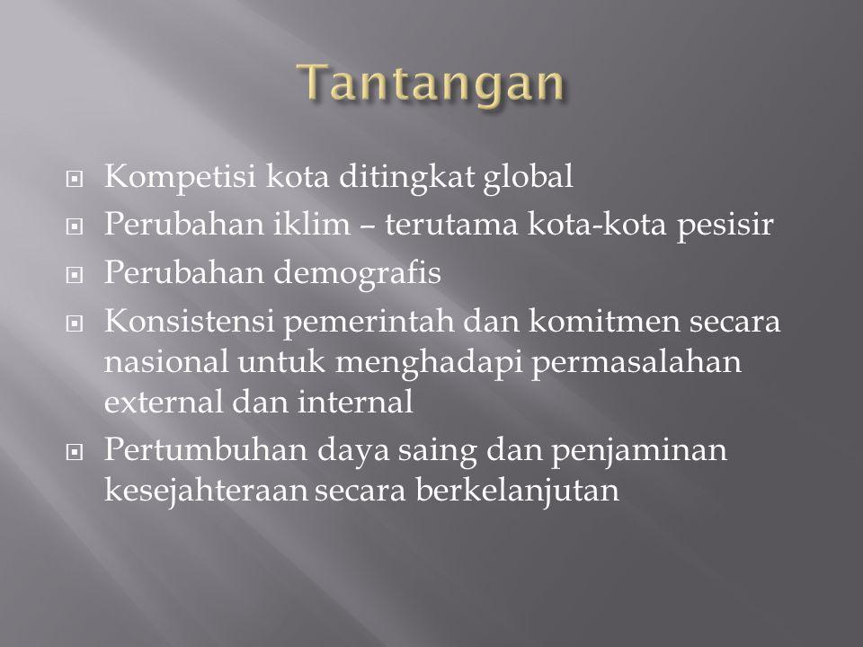  Pengembangan / pembangunan perkotaan untuk mendukung strategi pembangunan nasional.