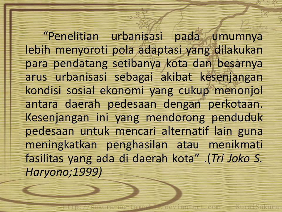 Namun kenyataannya tidak semua urbanisasi berdampak positif bagi masyarakat.