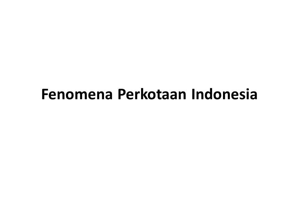 Fenomena Perkotaan Indonesia