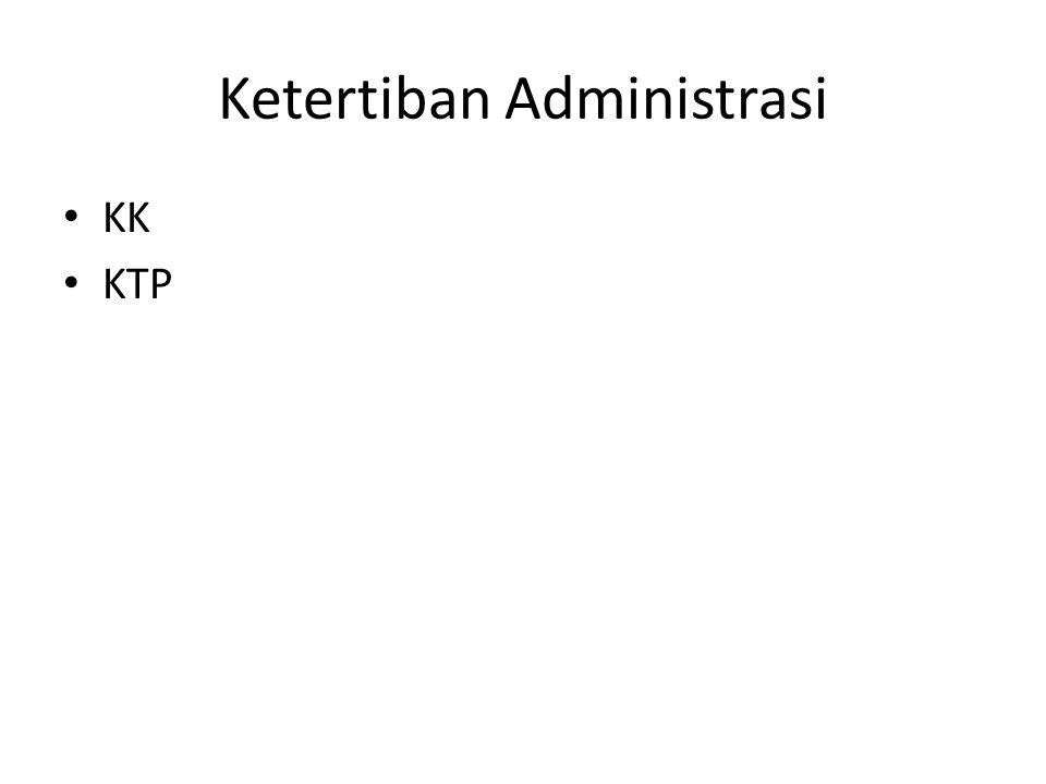 Ketertiban Administrasi KK KTP