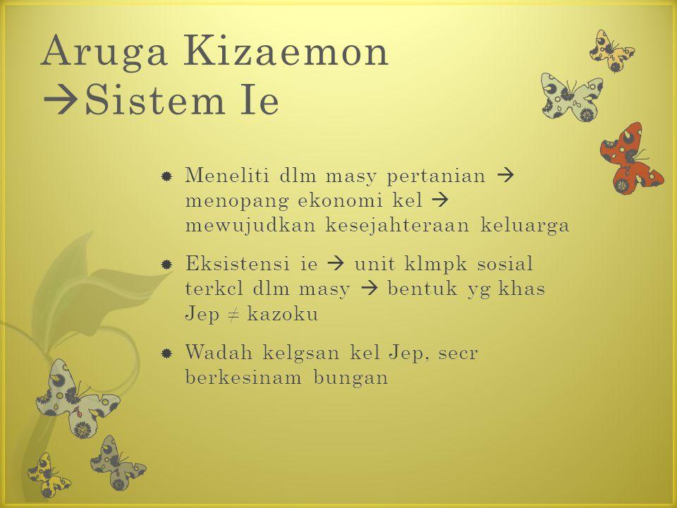 Aruga Kizaemon  Sistem Ie
