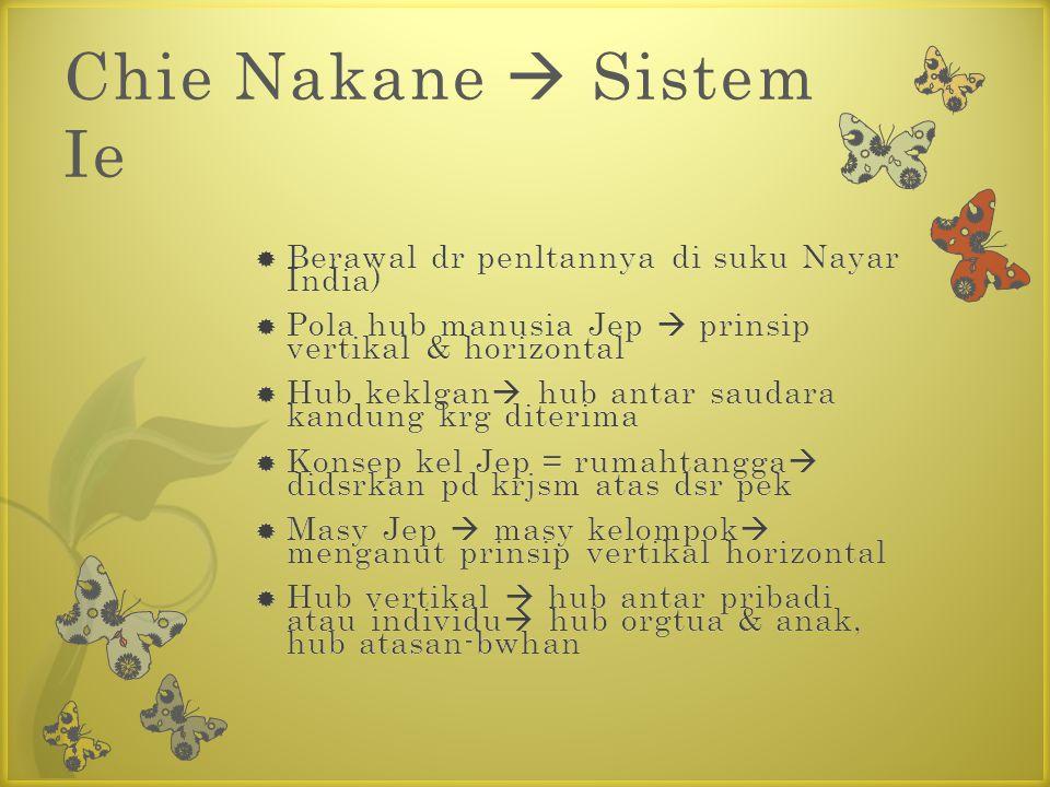 Chie Nakane  Sistem Ie