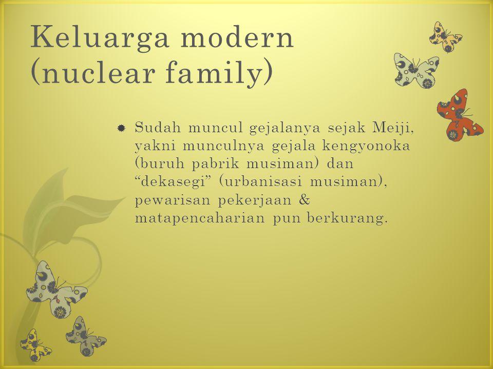 Keluarga modern (nuclear family)