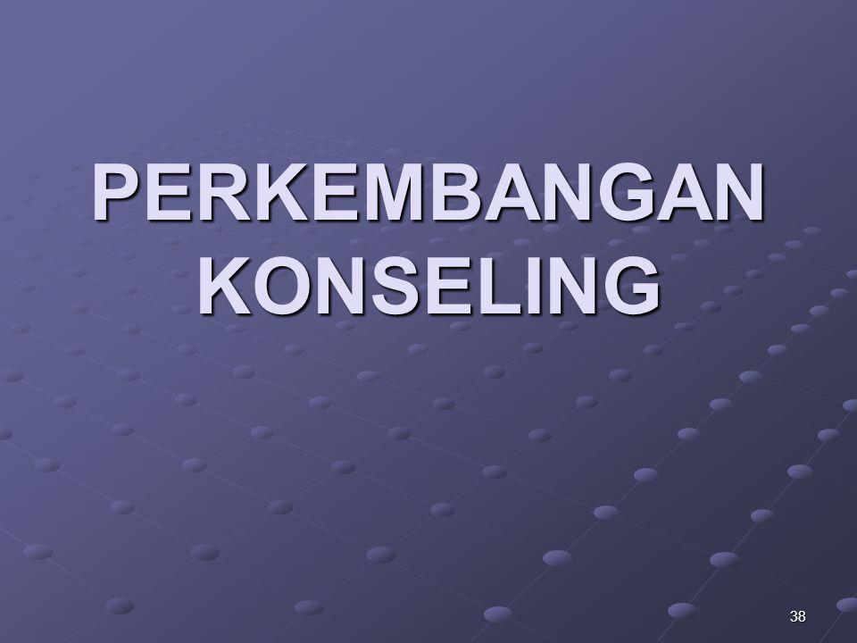 38 PERKEMBANGAN KONSELING