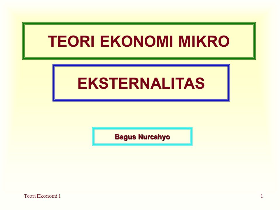 Teori Ekonomi 12 Efisiensi Pasar – Kegagalan Pasar Recall that: Adam Smith's invisible hand of the marketplace leads self- interested buyers and sellers in a market to maximize the total benefit that society can derive from a market.