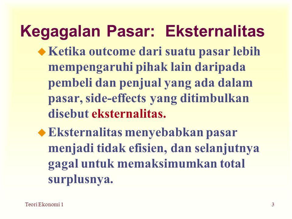 Teori Ekonomi 14 Munculnya eksternalitas…......