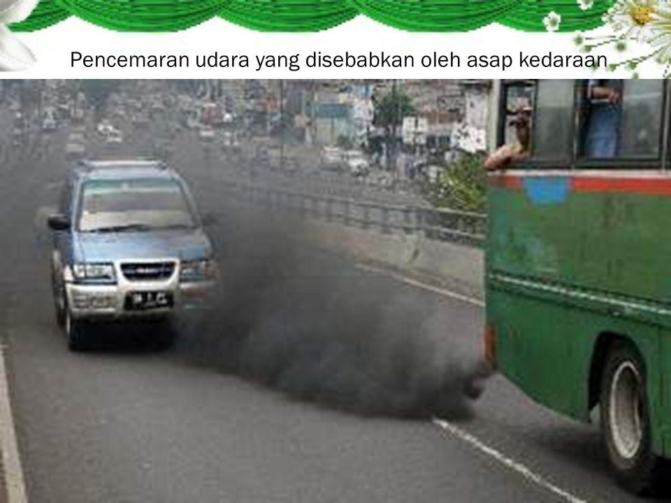 Pencemaran udara yang disebabkan oleh asap kedaraan