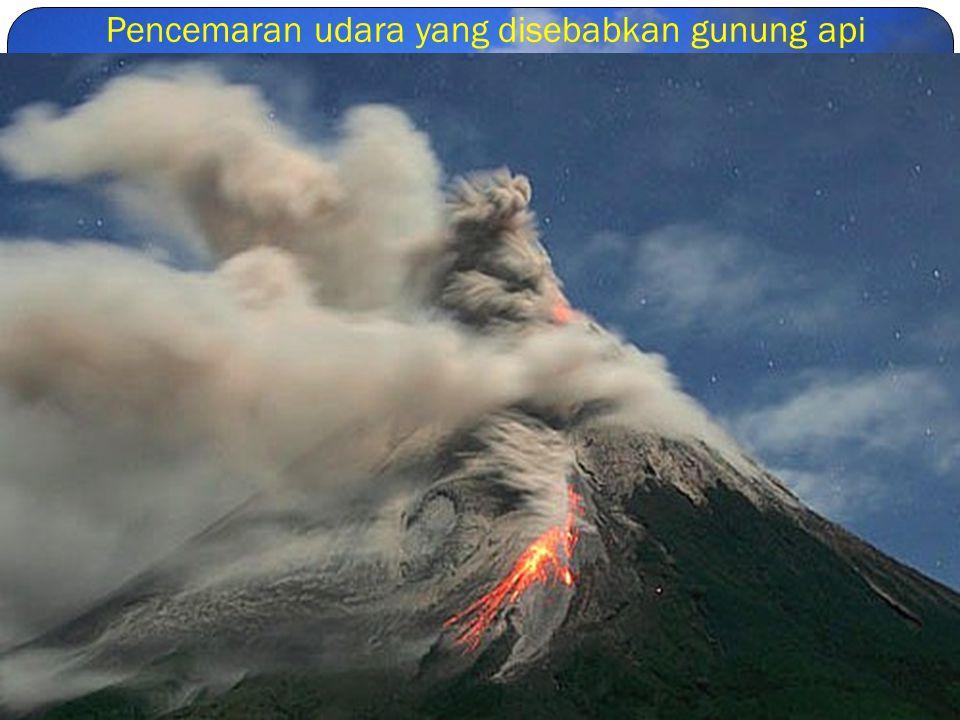 Pencemaran udara yang disebabkan gunung api