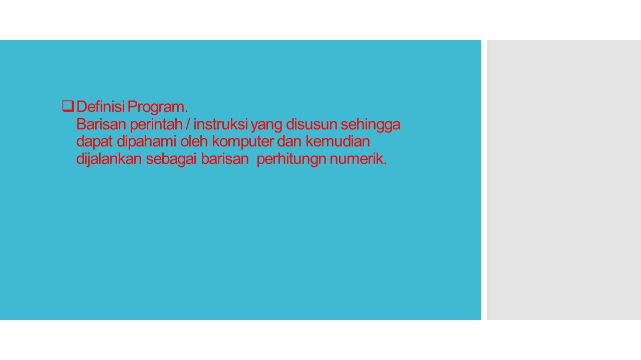  Definisi Program.