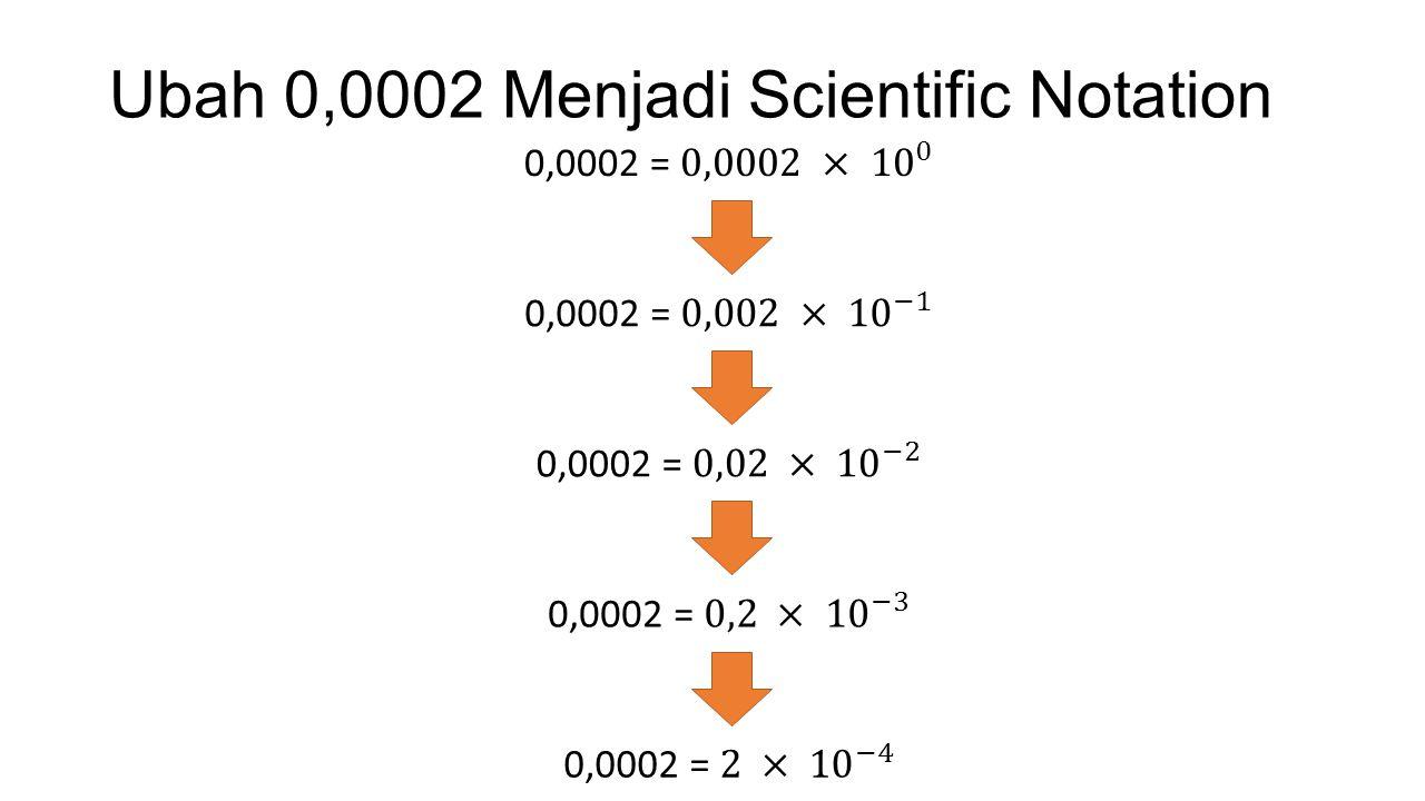 Ubah 0,0002 Menjadi Scientific Notation