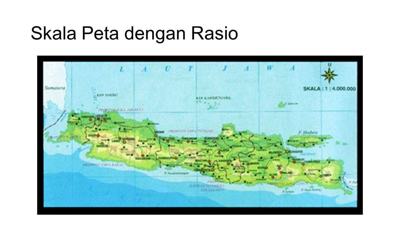 Skala Peta dengan Rasio