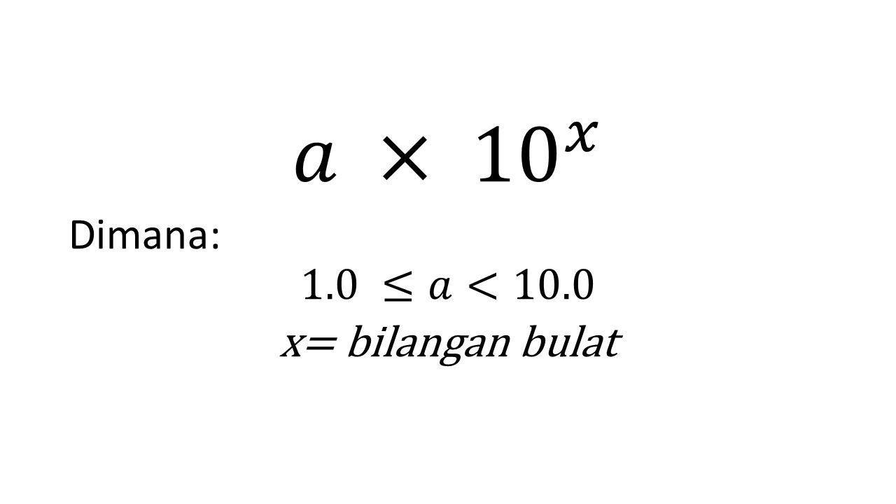 Contoh: Scientific Notation