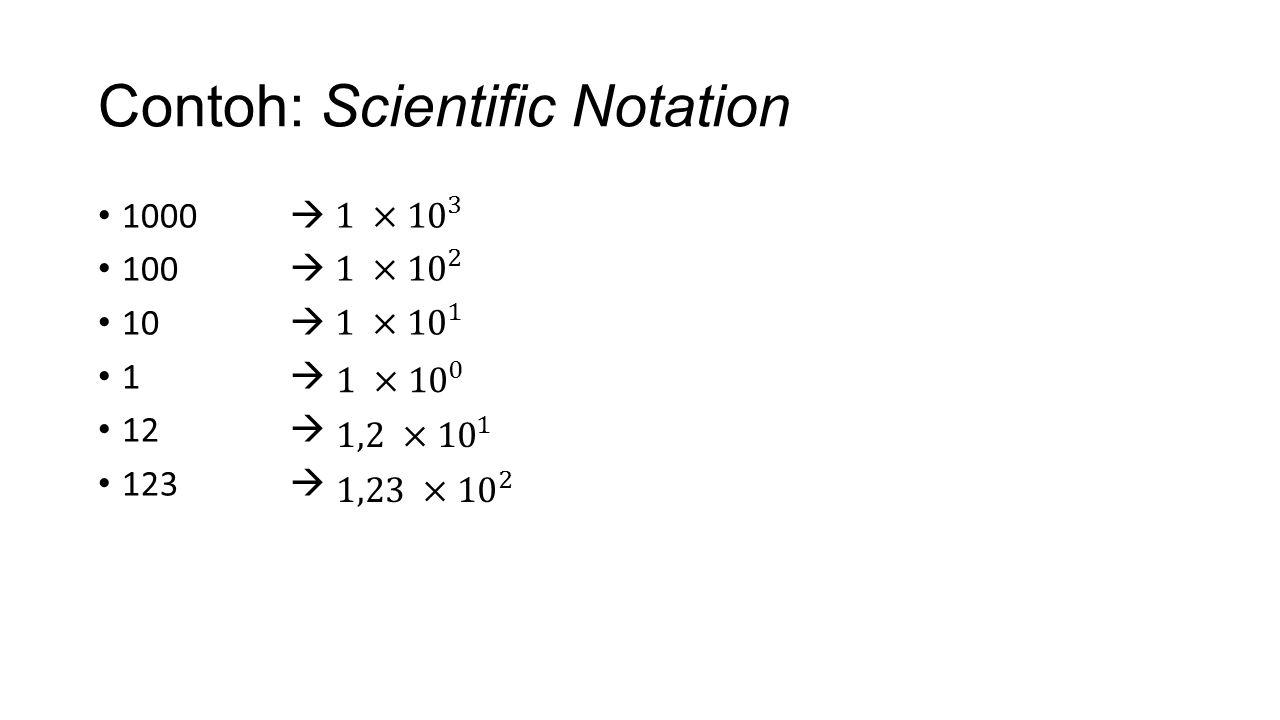 Ubah 3042 Menjadi Scientific Notation