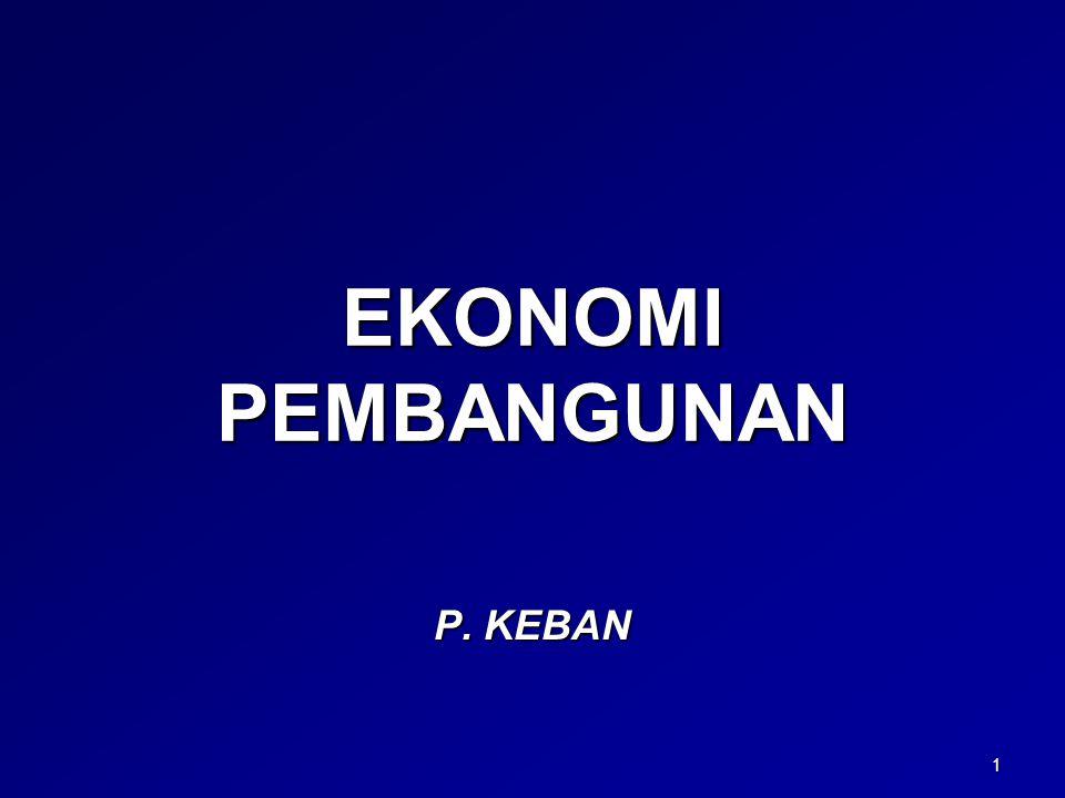 EKONOMI PEMBANGUNAN P. KEBAN 1
