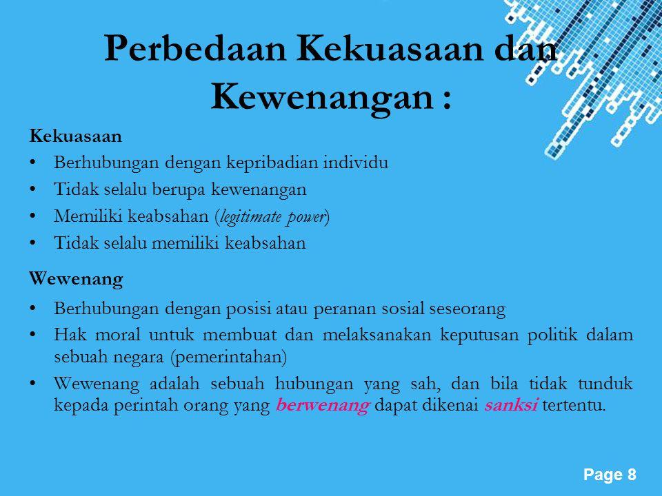 Powerpoint Templates Page 9 PERFORMANCE KEKUASAAN PRESIDEN RI.