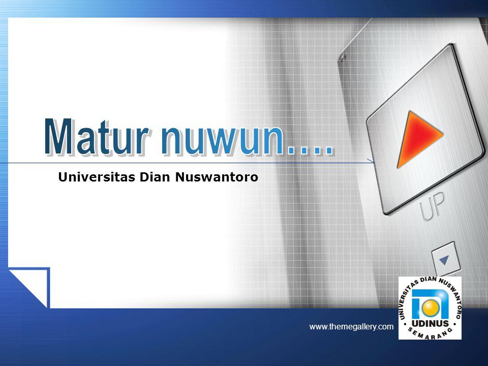 LOGO www.themegallery.com Universitas Dian Nuswantoro