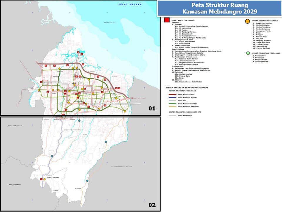 Peta Struktur Ruang Kawasan Mebidangro 2029 Peta Struktur Ruang Kawasan Mebidangro 2029