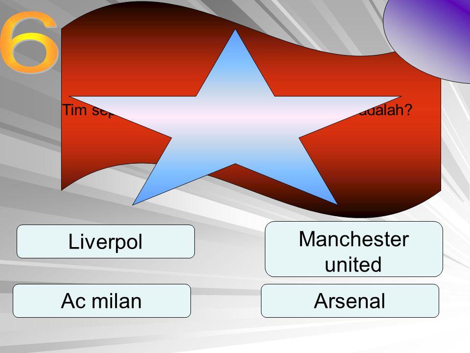 Tim sepak bola yang di juluki setan merah adalah? Liverpol Ac milan Manchester united Arsenal