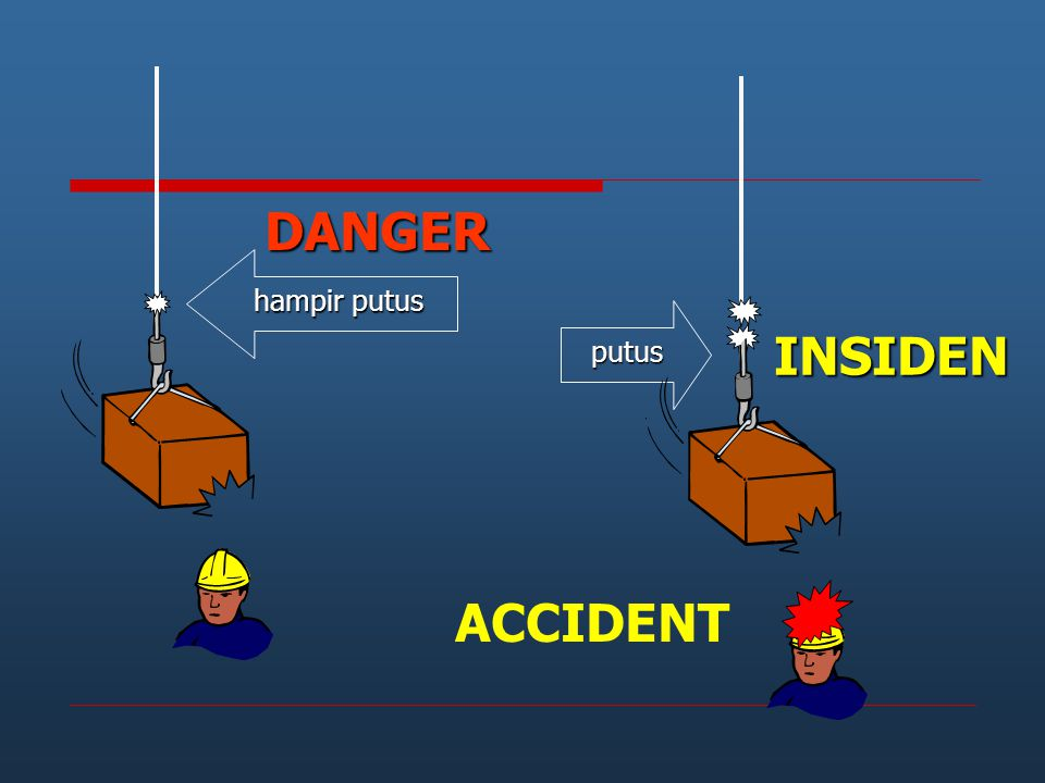 DANGER hampir putus INSIDEN ACCIDENT putus