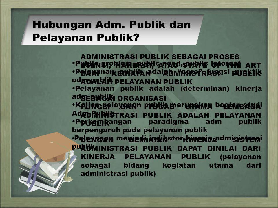 PERKEMBANGAN PARADIKMA ADMINISTRASI PUBLIK ADM PUBLIK MANAJEMEN PELAYANAN PUBLIK OLD PUBLIC ADMINISTRATION NEW PUBLIC MANAGEMENT NEW PUBLIC SERVICE