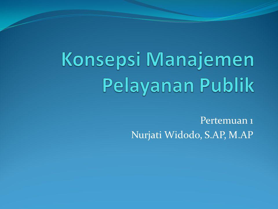 Pertemuan 1 Nurjati Widodo, S.AP, M.AP