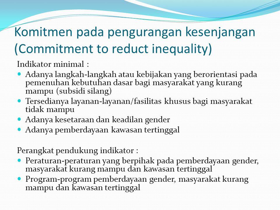 Kemitraan dengan Dunia Usaha Swasta dengan Masyarakat (Private Sector and Civil Society Partnership Perangkat pendukung indikator : Peraturan-peratura